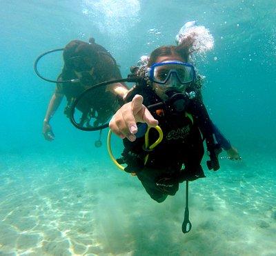 Beginner diver