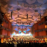This wonderful concert hall is visually stimulating as well as acoustically brilliant.