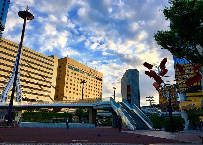 Moriguchi city station square open space
