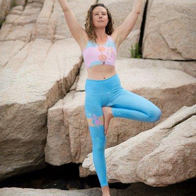 Yoga teacher Phoebe