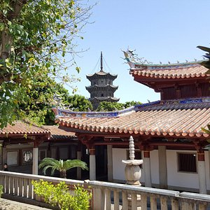 One of the pagodas seen from the backside of the main building
