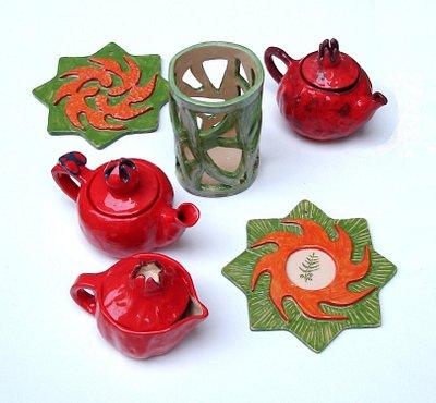 Керамические чайники и не только сделанные в гончарной мастерской