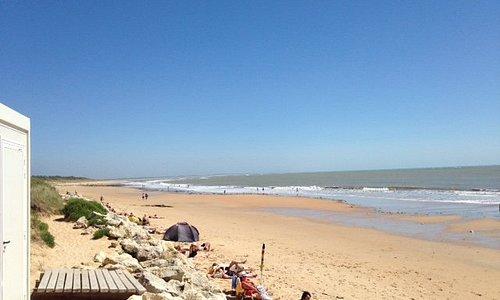 View along main beach