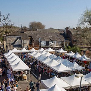 Levy Market on a sunny Saturday