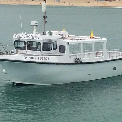 Four Sisters arrives in St Ives after a winter re-fit.