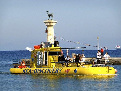 Yellow Submarine - Mandraki Port, Rhodes