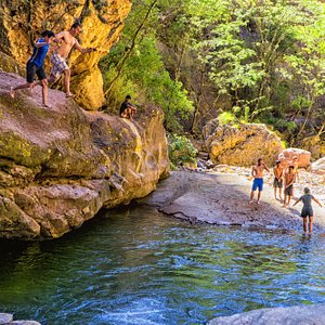 Cliff jumping in Torotoro (most guides won't take you here!)