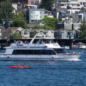 The Champagne Lady cruising through Lake Union