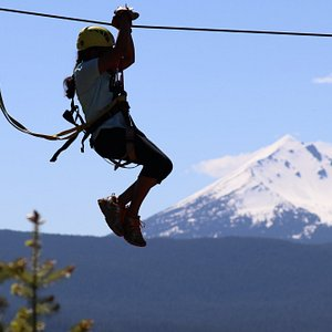 Mt Mcloughlin view from Crater Lake Zipline