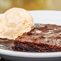Brownie com sorvete!