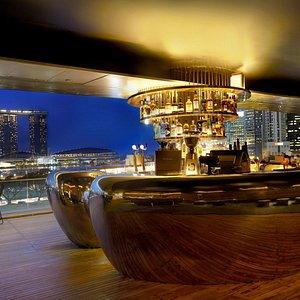 Stunning panoramic views of the Singapore Skyline