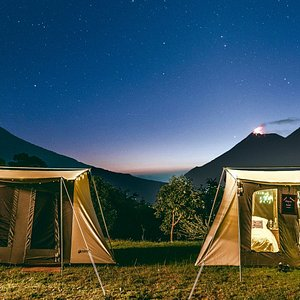 Active volcanoes and starry skies form the backdrop of our trekking camps - Trek Guatemala