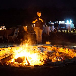 Dinner by Starlight at Arid Recovery (photo: Katherine Tuft)