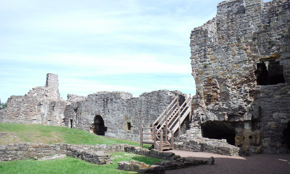 Dirleton Castle and grounds.