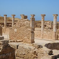 Columns in the Villa of Theseus