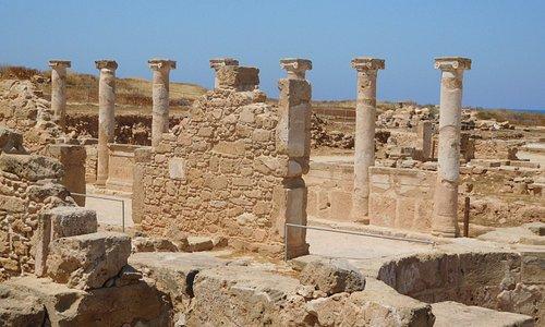 Columns in the Villa of Theseus