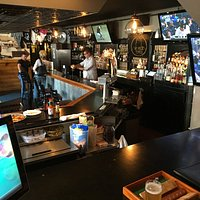 The bar at No-Neck Tony's