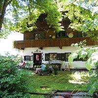 schattiger Gastgarten,