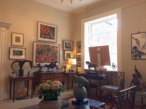 Interior of the Jorgensen Gallery - a salon style gallery in the heart of Dublin