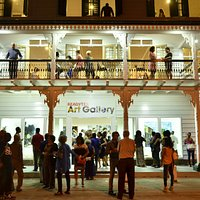 Opening night reception at Readytex Art Gallery