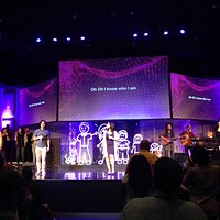 Praise band on stage