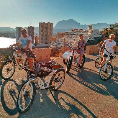 Sierra Helada, skyline Benidorm. Viajar con niños. Tao Bike