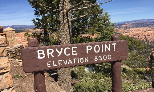Bryce Point sign  - Bryce Canyon National Park