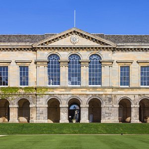 Main hall from main quadrangle, Worcester College, Oxford (2014)