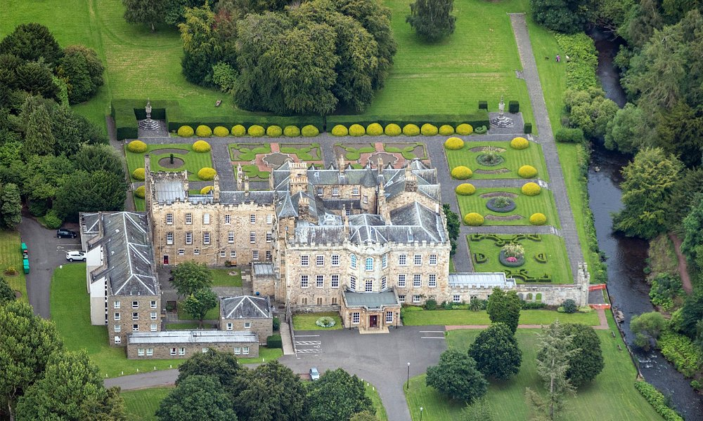 Aerial view of Newbattle Abbey (2016)
