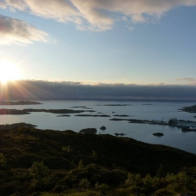 View from Høgåsen towards the sea