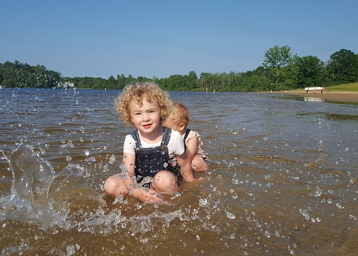 A lot of shallow water for the little ones