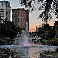 Lee Park and Turtle Creek at sunset