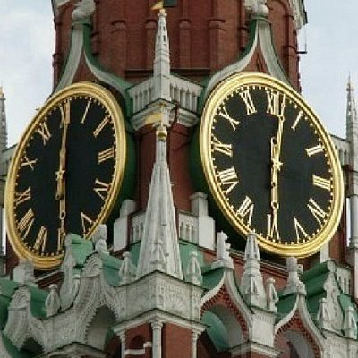 The clock on the Saviour Tower