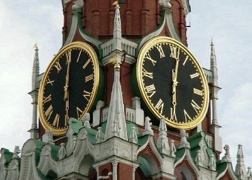 The clock on the Saviour Tower