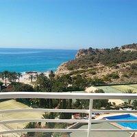 Cala Higuera vista desde Montiboli Beachfront Holiday Apartment