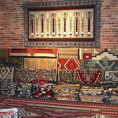 The Navajo rug room at Toh-Atin Gallery