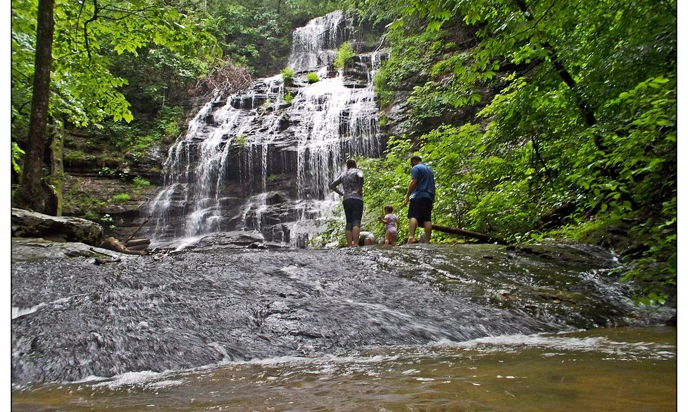 Great waterfall for visiting with little ones. Station Falls.