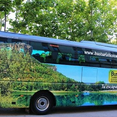 El bus turistico hacia la serranía de Cuenca