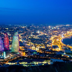 Night Baku From Highlands Park