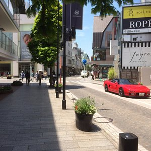 Another View Of The Street And Fancy Car