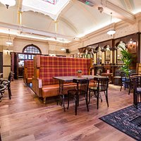 The Great Northern Railway Tavern - contemporary interior accented by stunning original features