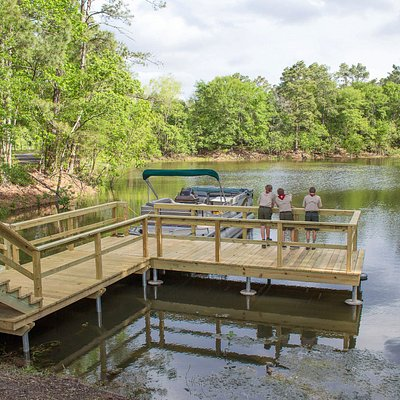 Go fishing at the dock at the preserve!