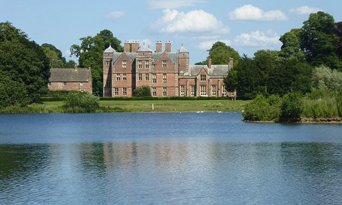 A view of the Hall across the lake