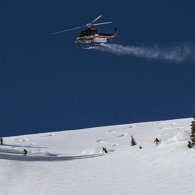 Telluride Helitrax, heli-skiing in Colorado