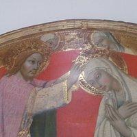 Sano di Pietro, Incoronazione della Vergine (particolare)