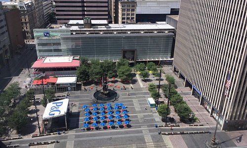 A bird's eye view from the Westin.