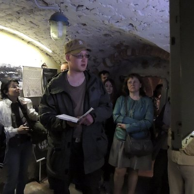 """Во время экскурсии по музею """"Твердыни Ингрии"""""""