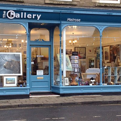 Our shop front and Gallery owners Iain Louden and David Wallace.