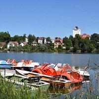 Stadtsee vom Ruderbootverleih aus
