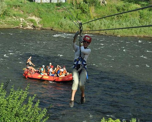 Zipline and whitewater rafting at the Colorado Adventure Center in Glenwood Springs.